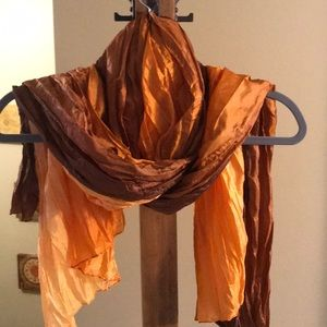 Accessories - Brown/orange Ombré scarf